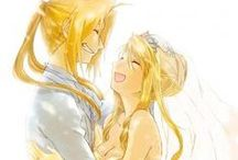 Edward and Winry♥ / Full Metal Alchemist couple ♥  Edward Elric ♥ Winry Rockbell ♥