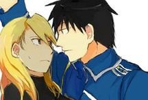 Mustang And Hawkeye♥ / Full Metal Alchemist couple♥  Roy Mustang ♥ Riza Hawkeye ♥