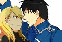 Mustang And Hawkeye♥ / Full Metal Alchemist couple♥  Roy Mustang ♥ Riza Hawkeye ♥