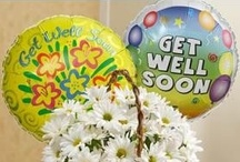Get Well / Colorful flowers can enlighten even a dreary sick room!