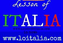 Italian lessons in images / Images with Italian vocabulary and learning tips.
