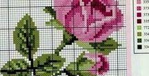Handarbeit sticken 4Kreuzstich Rosen