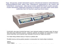 Matuya Kaşe Makinesi / Matuya Kaşe Makinesi , Flaş Sistem Kaşe Makinesi