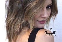 . Short-Mid Brunette . / Short to mid-lenth beautiful brunette color by Johnny Ramirez.