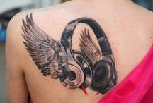 MUSIC TATTOOS & BODY ART + / A collection of music related tattoos and body art. / by The HITMAN Randy Howley