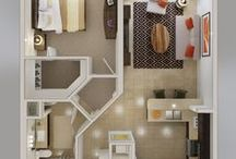 Tiny House Design / Why do you need so much space. We are in love with the idea of tiny house living. You can pack a lot into a small package.