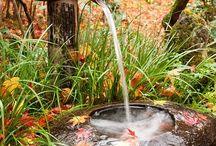 Fontes e jardins zen