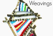 Children's weaving activities