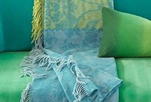 Color | Aqua, green, yellow / Interieurs, stoffen, accessoires etc. At home