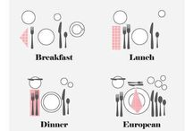 Table Setting / Ideas for table settings - seasons, occasions, etiquette !