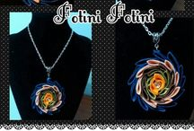 Handmade kanzashi by Fotini Fotini  Mazaraki / handmade kanzashi with chain, pendant, bracelets, rings,earrings