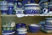 Polish pottery!!!! Love it! / Polish Pottery! I was blessed to be able to go and buy some pieces while my ex and I were stationed in Germany! / by Erica Jackson