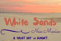 USA - New Mexico. White Sands National Monument / Landscape photos of our visit to White Sands National Monument at sunset