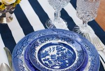 Blue and White Weddings, Tea Parties, Bridal Showers-Blue Vintage China and Glassware Rentals / Dixie Does Vintage Blue Vintage China & Blue Glassware and Goblet Rentals & - Retro Style Vintage Weddings - Head Tablescapes China Rental by Dixie Does Vintage in Dallas Tx DFW