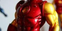 Statues of Super Heroes / Statues de Super-Héros / #StatuesSuperHeroes  #StatuesSuper-Héros #CaptainAmerica #Ironman #Spiderman #comics  #Marvel