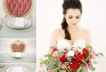 """Dusty Rose Wedding Decor For Modern and Romantic Weddings Vintage Style / Dusty Rose-Totally the hottest """"on trend"""" color palette that vintage dreams are made of! Shades of pink and rose are colors that exude romance and look great incorporated in all types of wedding receptions and bridal styles."""