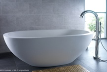 JEE-O moloko bath / Freestanding bath made from DADOquartz with integrated overflow. (L 1775 x W 785 x H 605 mm)