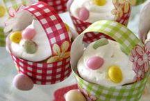 Pâques / Chasses aux œufs et courses aux lapins, cocottes, cloches, petits poissons...