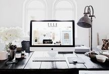 WORK SPACE / Inspiration and business tips for the modern female entrepreneur's work space and office design.