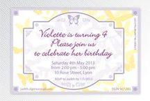 Invitations / Mes cartons d'invitations