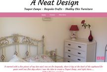 www.aneatdesign.com / Teapot Lamps ~ Bespoke Crafts ~ Shabby Chic furniture