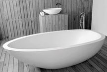 JEE-O elaine bath / Freestanding bath made from DADOquartz with integrated overflow. (L 1940 x W 930 x H 530 mm)