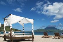 St. Kitts Marriott Resort & The Royal Beach Casino / With an exquisite spa, private gazebos, three swimming pools and a swim-up bar, you can easily slip into laid-back luxury at the St. Kitts Marriott Resort. See more on our website: http://ow.ly/sCGbC