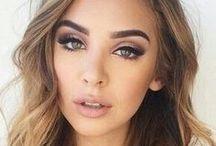 Makeup / Natural makeup  to a dramatic burgundy lip
