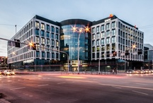 Aquarius Business House - Wrocław / #office #architecture This is a modern A class office building with an area of 25,000 sqm, which is being developed in the centre of Wrocław, at the junction of Swobodna and Borowska streets.