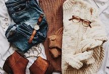 Fall & Winter Fashion / A time for somber colors and piles of scarves. It's autumn style.