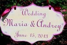 Wedding HOMEWOODSIGNS / This is my work for weddings