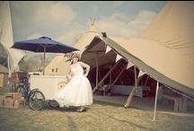 Tipi Festival Themed Wedding / Inspiration for holding a festival themed wedding
