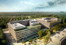 Park Rozwoju - Warszawa / Park Rozwoju - a modern 'A' class office complex which is being developed by Echo Investment on Konstruktorska Street in Warsaw