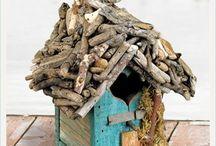 Leuk  vogelhuisjes