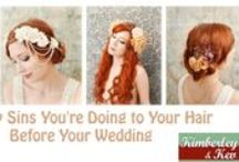 7 Deadly Sins You're Doing to Your Hair Before Your Wedding / To make sure you have a great look on your wedding day, avoid these seven deadly hair sins.