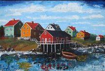 Jaaps Art / Hier zijn mijn schilderijen/Here are my paintings. All in acrylic and modeling paste