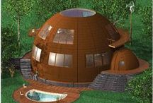 Dome & Arch / Concrete, earth berm and rammed earth, as well as geodesic and other non-square framed structures, but mainly domes of all kinds! / by Jack Coats