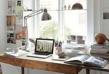 Home Office / modern, organic, scandinavian home office, workspace, two person desks