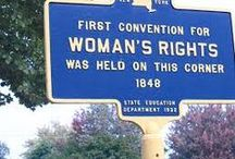 Women's Historical Landmarks / Here are some of the places where women have made important contributions to our history.