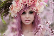 Adorn Me With Flowers / She had flowers in her hair !  / by Polly Kane