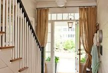 Door Curtains / Not just for embellishment, a door curtain helps keep out drafts and keeps your home cosy