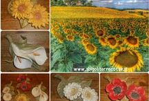 Unusual Fruits and Flowers / Handmade and handpainted terracotta Fruits and Flowers to hang