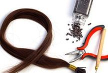 Hair Extension Methods / Check out this board to discover all of the hair extension methods available on the market - hot fusion or keratin bond, cold fusion, micro-links or I-tip, tape in extensions, glue-in, sew-in or braided, and clip-in.