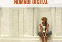NOMADE DIGITAL / Vie de nomade digital | comment voyager et travailler en même temps | gagner de l'argent et voyager | gagner sa vie avec un blog | freelance et voyage