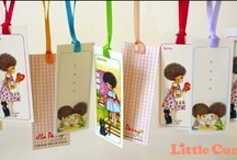 mini bookmarks / Little Curly mini bookmarks  © ella parry - little curly collection / by Little Curly (the eco-friendly girl)