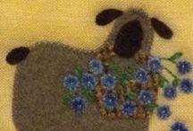 Ricamo su maglia e lana