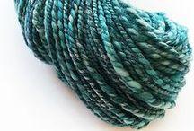 Hand Spun / Hand spun yarn and creations