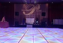 LED Light-Up Dance Floor / Light-Up LED dance floors available for your corporate event or function make an elegant unforgettable dance experience.