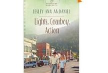 """Lights, Cowboy, Action / Inspiration board for """"Lights, Cowboy, Action"""", Book #1 in the """"Montana Hearts"""" romance series, published by Heartsong Presents (Love Inspired); an imprint of Harlequin."""