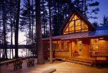 Log Cabins in the forest / If I didn't live in a treehouse, a log cabin would be the next best thing